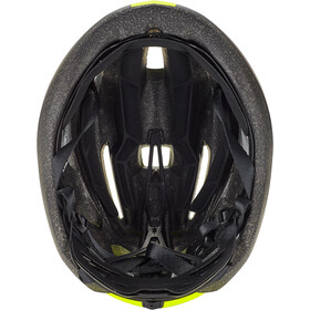 MET Strale Casque, black/safety yellow panel